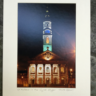 St. Andrews in the Square, Glasgow Signed Mounted Print FREE DELIVERY
