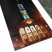 ST ANDREWS IN THE SQUARE , GLASGOW signed mounted print