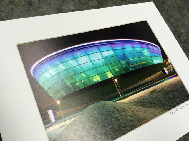 THE HYDRO, GLASGOW signed mounted print