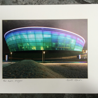 The Hydro, Glasgow signed mounted print FREE DELIVERY