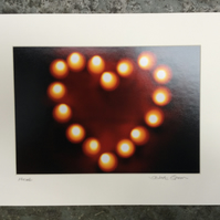 Heart, Signed Mounted Print FREE DELIVERY