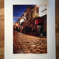 ASHTON LANE, GLASGOW signed mounted print