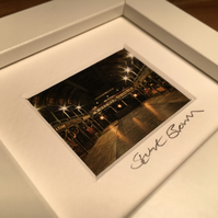 THE OLD FRUITMARKET, GLASGOW mini signed and framed print