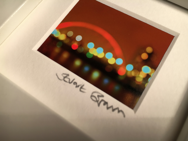 'GLASGOW LIGHTS',  mini signed and framed print