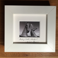 ANDY SCOTT'S KELPIES, FALKIRK  mini signed and framed print
