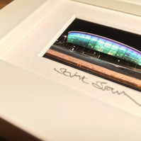 THE HYDRO, GLASGOW  mini signed and framed print