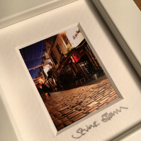 ASHTON LANE,GLASGOW  mini signed and framed print