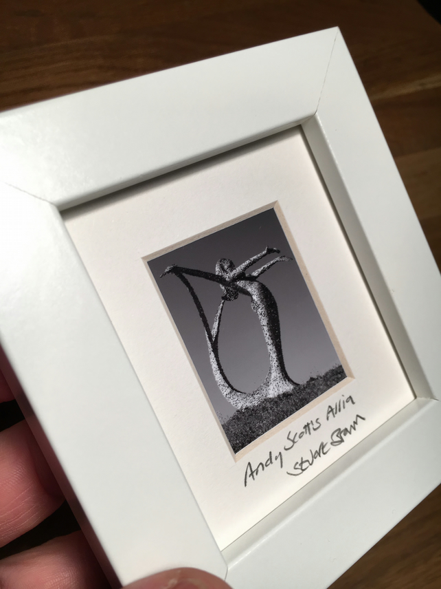 ANDY SCOTT'S ARRIA mini signed and framed print
