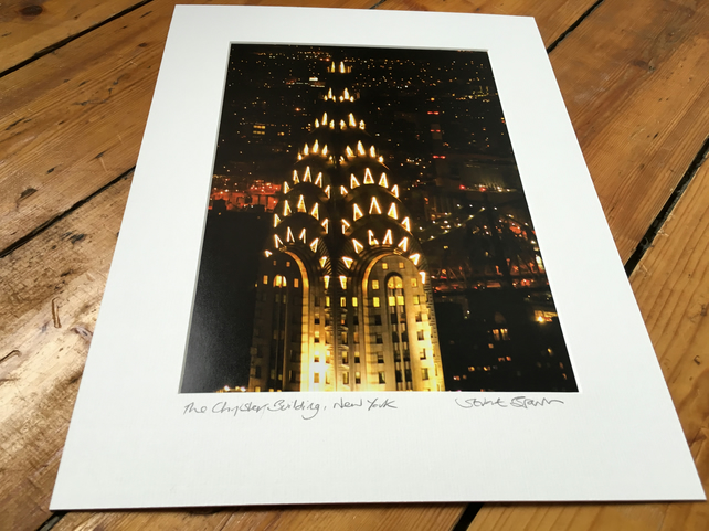 Chrysler Building (night version), New York MOUNTED PRINT