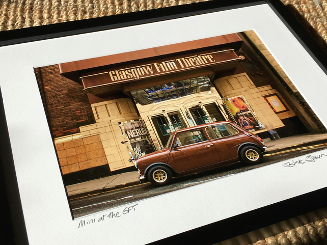 Mini at the Glasgow Film Theatre SIGNED FRAMED PRINT