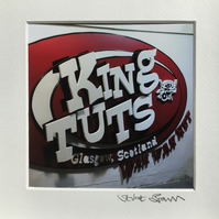 King Tuts, Glasgow SIGNED SQUARE FRAMED PRINT
