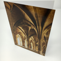 THE CLOISTERS, GLASGOW UNIVERSITY blank greeting card