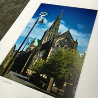Glasgow Cathedral SIGNED MOUNTED PRINT