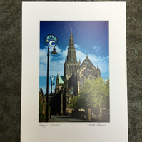 Glasgow Cathedral Signed Mounted Print FREE DELIVERY