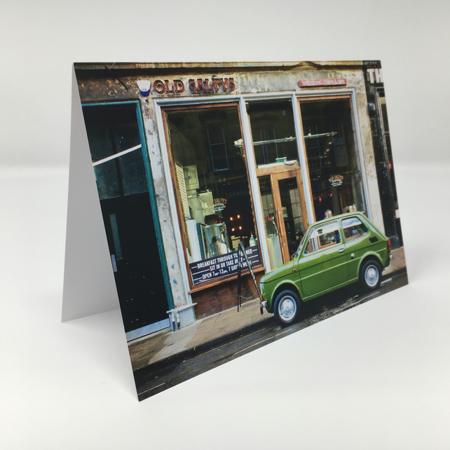 Fiat 126 Glasgow BLANK GREETING CARD