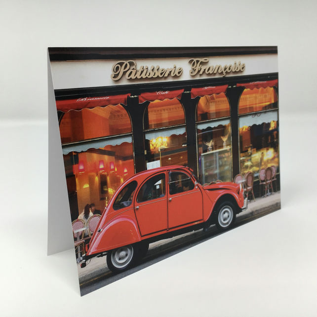 Citreon 2cv Glasgow BLANK GREETING CARD