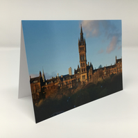 Glasgow University,  blank greeting card