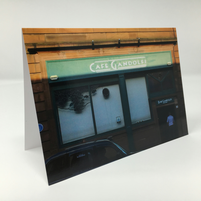 Cafe Gandolfi, Glasgow BLANK GREETING CARD