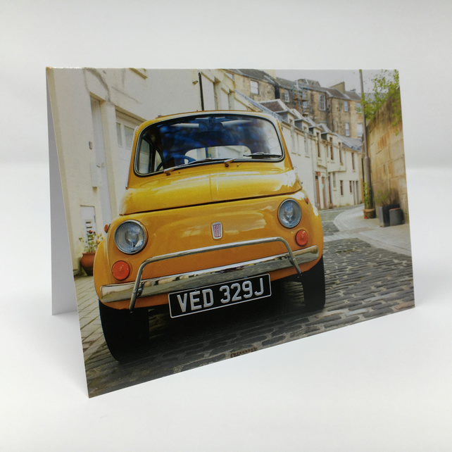 Fiat 500, Glasgow BLANK GREETING CARD