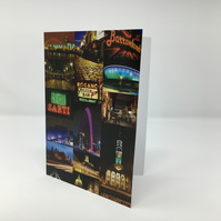 Glasgow Nights, Glasgow BLANK GREETING CARD