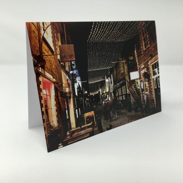 Ashton Lane,  Glasgow BLANK GREETING CARD