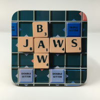 'Bawjaws' scrabble coaster FREE DELIVERY