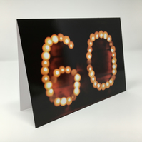'Sixty' birthday blank greeting card