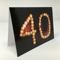 'Forty' birthday blank greeting card