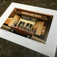 Mini at the GFT,  Glasgow SIGNED MOUNTED PRINT