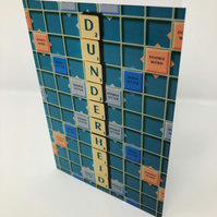 DUNDERHEID  scrabble blank greeting card