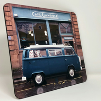 Camper van at Cafe Gandolfi Glasgow high gloss placemat