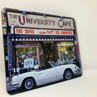 Triumph Spitfire at University Cafe Glasgow high gloss placemat