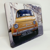 Fiat 500, Park Circus,  Glasgow high gloss placemat