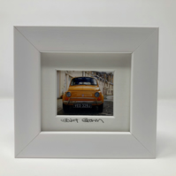 FIAT 500,  GLASGOW mini signed and framed print