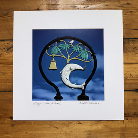 'Glasgow Coat of Arms' signed square mounted print 30 x 30cm FREE DELIVERY