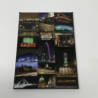 GLASGOW NIGHTS collage fridge magnet