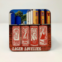 'Lager lovelies' Tennent's Glasgow high gloss coaster