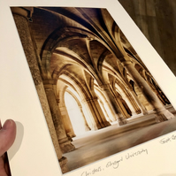 The Cloisters, Glasgow (colour version) Signed Mounted Print FREE DELIVERY