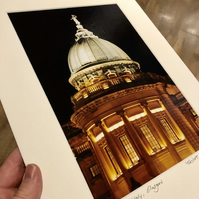 Mitchell Library, Glasgow Signed Mounted Print FREE DELIVERY