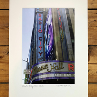 'Radio City' New York signed mounted print FREE DELIVERY