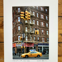 'West 11th and 7th' New York signed mounted print FREE DELIVER