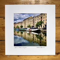 'Speirs Wharf' signed square mounted print 30 x 30cm FREE DELIVERY