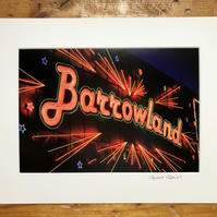'Barrowland', Glasgow,  signed mounted print FREE DELIVERY
