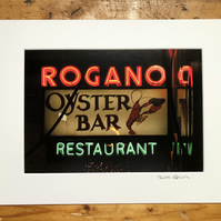 Rogano, Glasgow, signed mounted print FREE DELIVERY