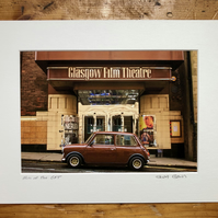 Mini at the GFT,  Glasgow Signed Mounted Print FREE DELIVERY