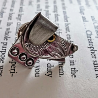 Quirky Pewter Dog Themed Tie Tack Pin