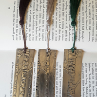 Silver Birch pewter Bookmark