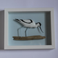 Framed carved avocet