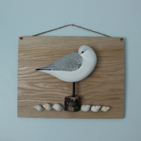 Sleepy sanderling wall hanging