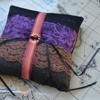 Steampunk ring pillow